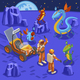 Aliens Isometric Background - GraphicRiver Item for Sale