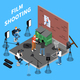 Film Shooting Isometric Background - GraphicRiver Item for Sale