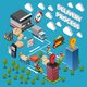 Delivery Process Isometric Composition - GraphicRiver Item for Sale