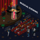 Musical Evening Isometric Composition - GraphicRiver Item for Sale