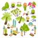 Botanical Garden Constructor Set - GraphicRiver Item for Sale