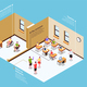Inclusive Education Isometric Composition - GraphicRiver Item for Sale