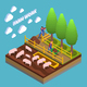 Agricultural Isometric Composition - GraphicRiver Item for Sale