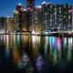 Busan Marina city skyscrapers illluminated in night - PhotoDune Item for Sale