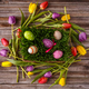 Easter eggs with tulips - PhotoDune Item for Sale