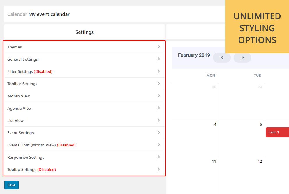 Calendar Anyting | Show any existing WordPress custom post type in a  calendar