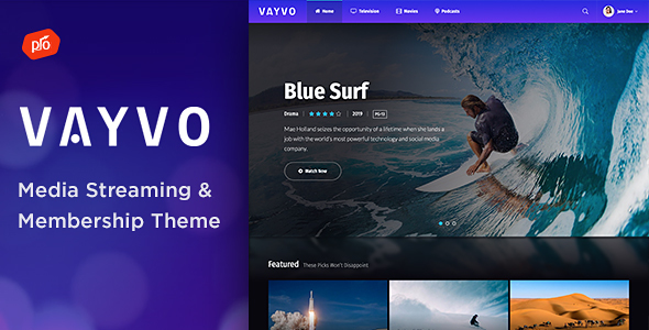 Vayvo - Media Streaming & Membership Theme