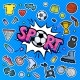 Message Sport with Soccer Ball in Pop Art Style - GraphicRiver Item for Sale