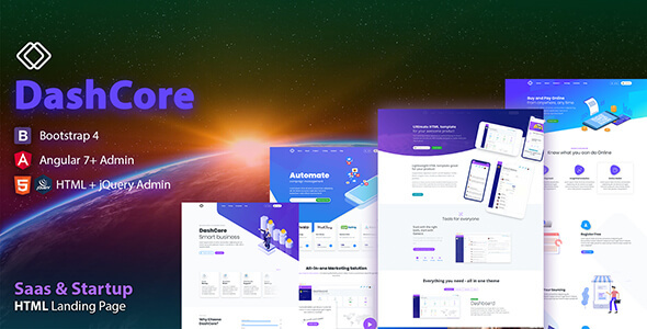DashCore - SaaS, Startup & Software Template