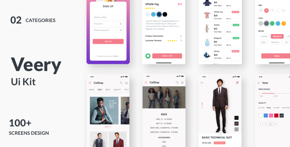 Veery E-Commerce UI Kit