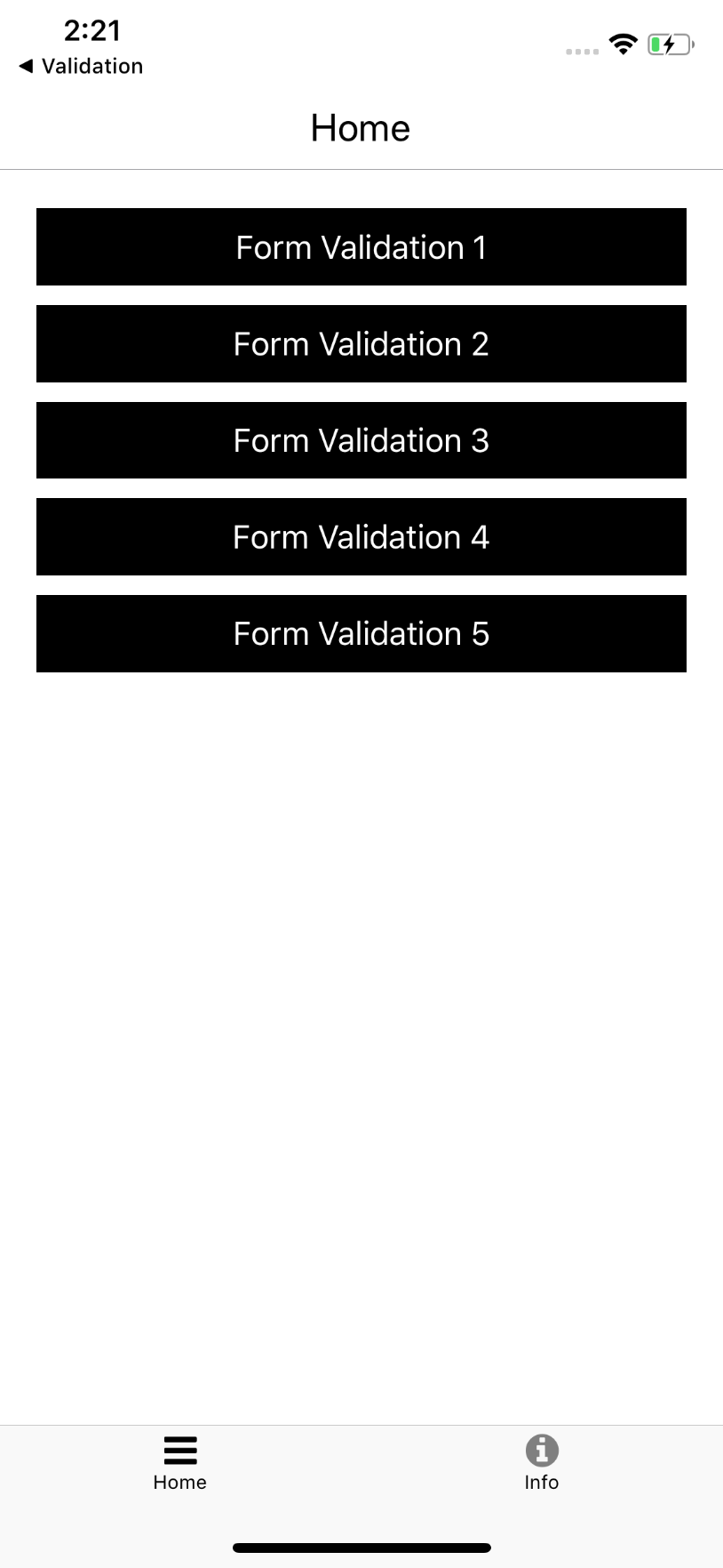 React native Form Validation
