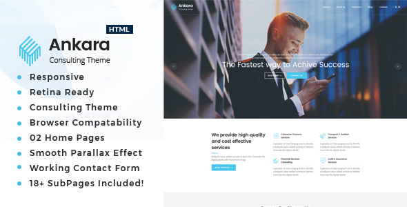 Ankara - Business Consulting and Professional Services HTML Template