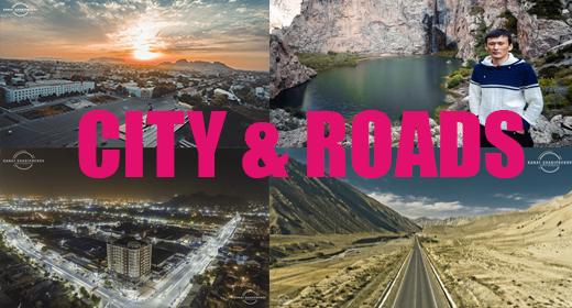 City, roads
