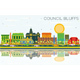 Council Bluffs Iowa Skyline with Color Buildings - GraphicRiver Item for Sale