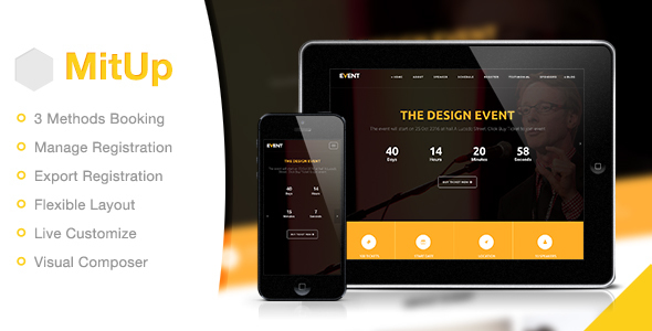MitUp – Event & Conference WordPress Theme Free Download
