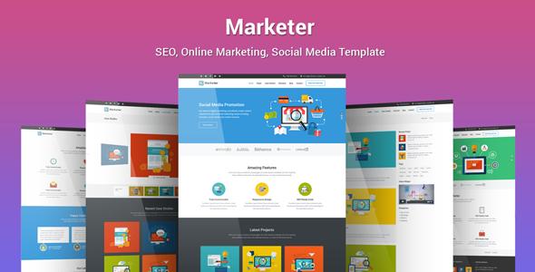 Marketer - SEO, Online Marketing, Social Media WordPress Theme