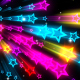 Abstract Flickering Neon Stars - VideoHive Item for Sale