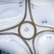 Aerial top view of country road junction in winter time - PhotoDune Item for Sale