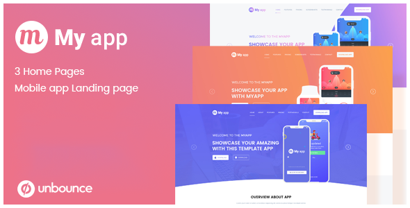 MyApp - Unbounce App Lead Generating Landing Page by TheMadBrains_UIUXStudio