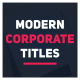 Modern Corporate Titles - VideoHive Item for Sale