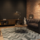 Interior of modern man living room with bar 3D rendering - PhotoDune Item for Sale
