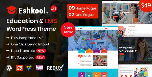 Eshkool Education - Education WordPress Theme