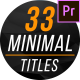 Minimal Titles & Lower Thirds 3 for Premier Pro - VideoHive Item for Sale