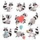 Raccoon Set - GraphicRiver Item for Sale