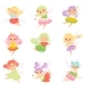 Fairies in Colorful Dresses Set - GraphicRiver Item for Sale