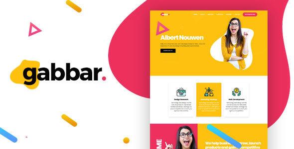 Gabbar - Portfolio HTML Template