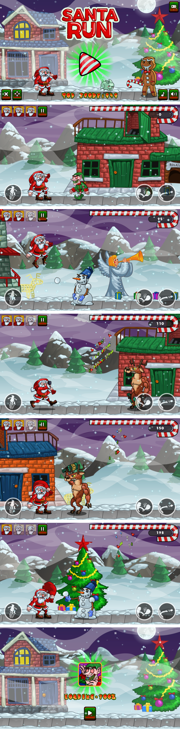 Santa Run - HTML5 Game + Mobile Version! (Construct 3 | Construct 2 | Capx) - 3