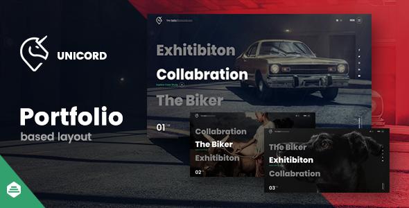 Excellent Unicord | Creative Portfolio for Freelancers & Agencies