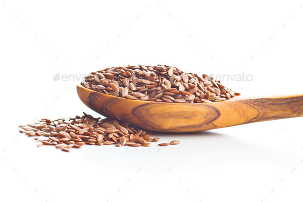 Flax seeds, linen seeds or linseeds. - Stock Photo - Images