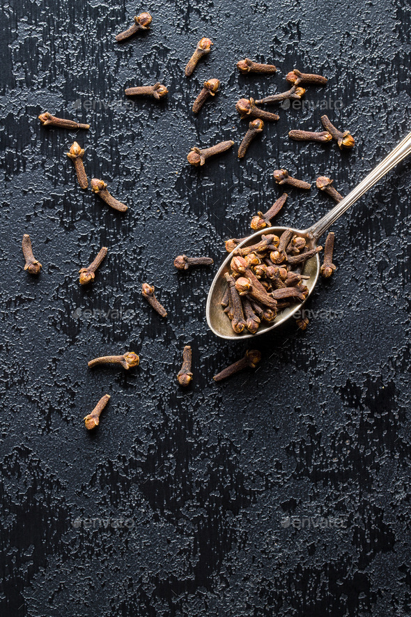 Carnation, dried clove spice. - Stock Photo - Images