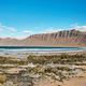 Landscape with volcanic hills and atlantic ocean in Lanzarote  - PhotoDune Item for Sale