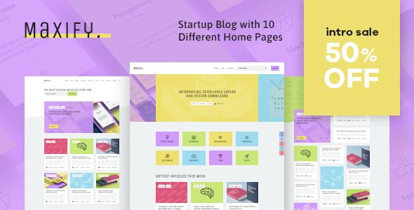 Maxify   Startup & Business Blog WordPress Theme Free Download