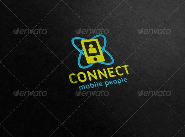 Connect - Mobile People Logo - Symbols Logo Templates