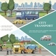 Flat City Transport Template - GraphicRiver Item for Sale