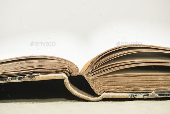 Open old book. - Stock Photo - Images