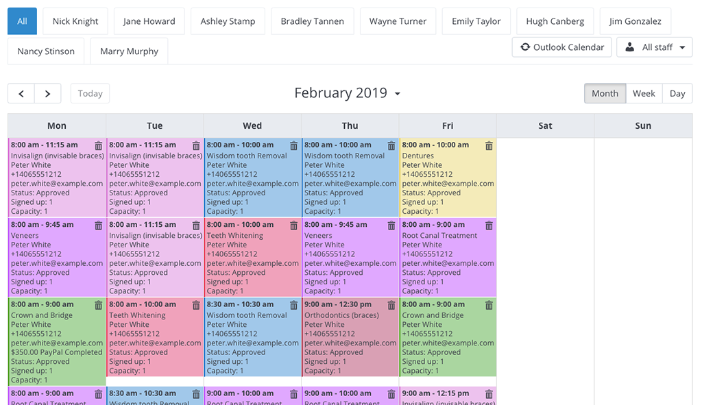 Bookly Outlook Calendar (Add-on)