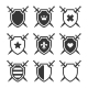 Shield with Crossing Swords and Heraldic Emblem - GraphicRiver Item for Sale