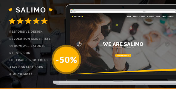 Salimo – One Page Parallax
