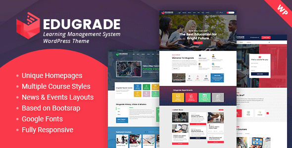 Download Edugrade – Education WordPress Theme nulled 01 preview image