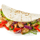 Tortilla wrap with fried chicken meat and vegetables - PhotoDune Item for Sale