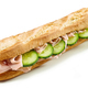 Baguette sandwich with ham and cucumber - PhotoDune Item for Sale