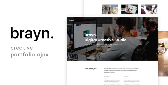 Brayn – Creative Portfolio Agency Ajax Template Free Download