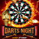 Darts Night Flyer Template - GraphicRiver Item for Sale