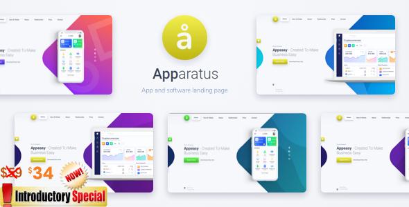 Apparatus | A Multi-Purpose One-Page Portfolio and App Landing Theme Free Download