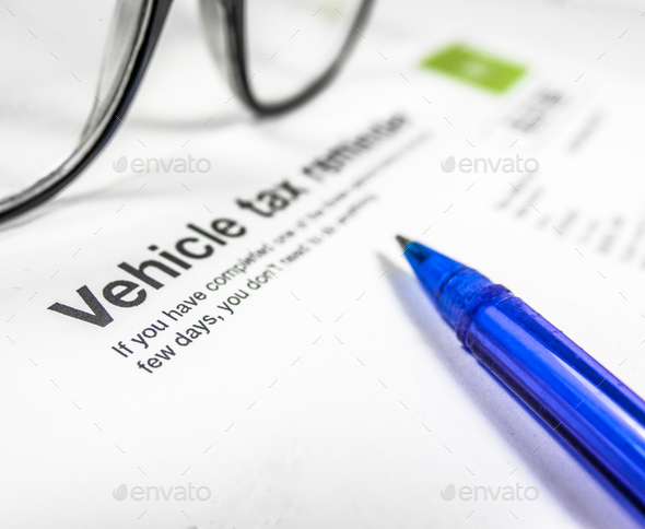Vehicle Tax Reminder Letter - Stock Photo - Images