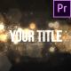 Elegant Bokeh Particle Title - VideoHive Item for Sale